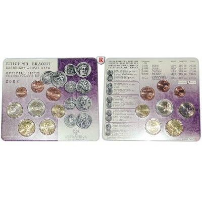 Griechenland Republik Euro Kursmünzensatz 2008 St Republik Seit
