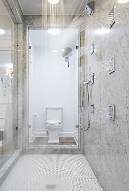 Walk through shower rock paper hammer master bathrooms for Walk through shower plans