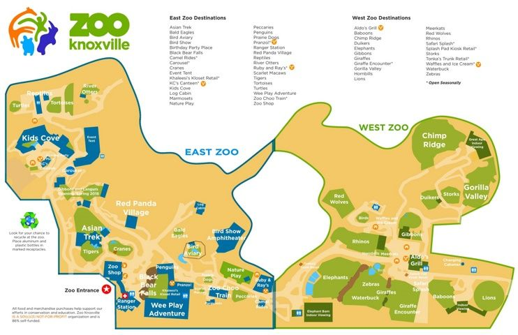 Knoxville Zoo map Maps Pinterest Zoos Usa cities and City