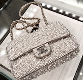 Photo of Only mine, small silver bag in rhinestones, Chanel❤️ Only mine, small bag …
