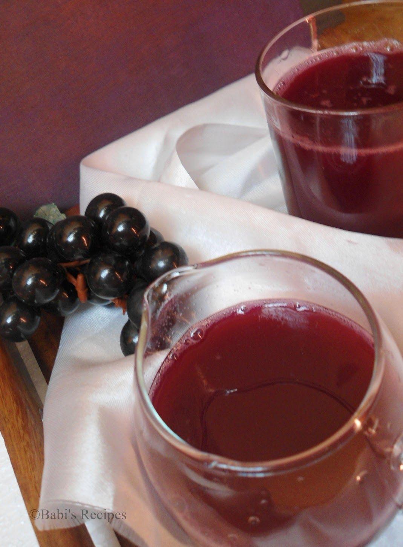 Babi S Recipes Fresh Grape Juice Grape Juice With A Touch Of Lemon Recipes Grape Juice Grapes