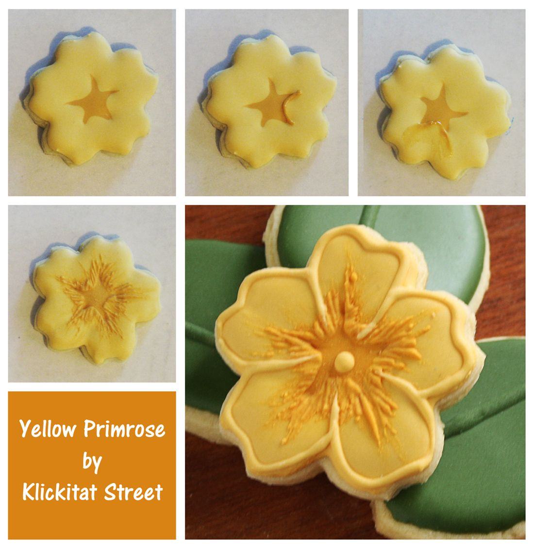 Yellow Primrose Flower Sugar Cookies Cookies Flowers Pinterest