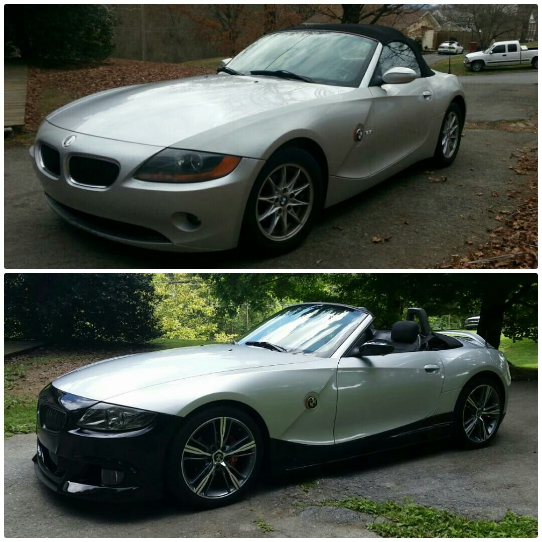Before And After Photos Of My 03 E85 Z4 Roadster Upgrades