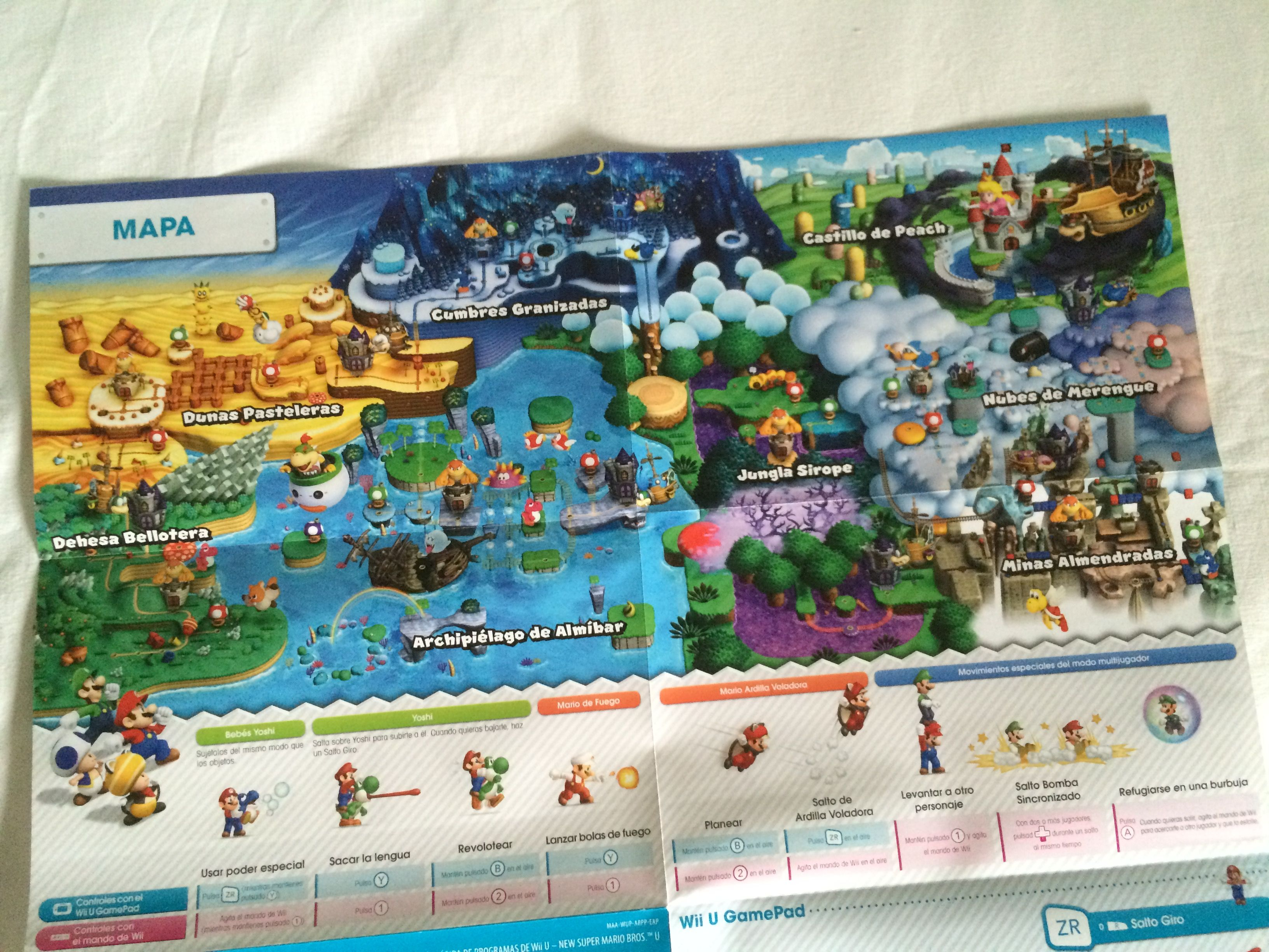 Map Of New Super Mario Bros U Wii U Wii Consola