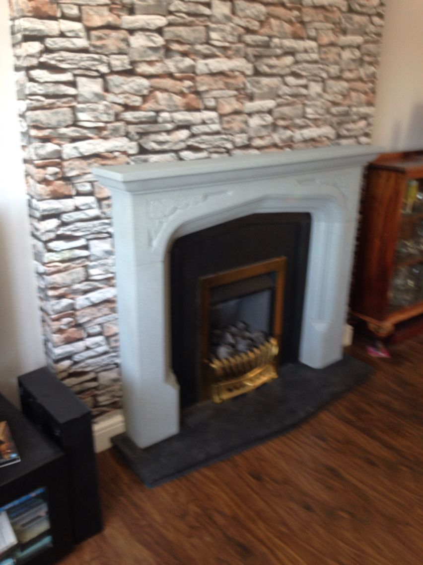 Fireplace make over using plastikote spray paint from b and q 7
