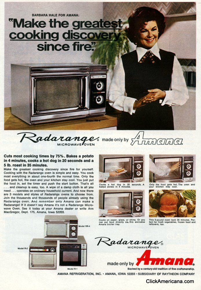Tips For Using A Microwave Oven How To Advice From The 70s When It Was The Super Hot New Appliance Microwave Oven Vintage Appliances Microwave
