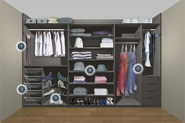 Women S Fitted Wardrobe Interior Storage Organize Me