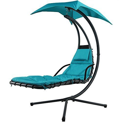 Best Choice Products® Hanging Chaise Lounger Chair Arc Stand Air Porch Swing Hammock Chair Canopy  sc 1 st  Pinterest : dream chair swinging chaise lounge - Sectionals, Sofas & Couches