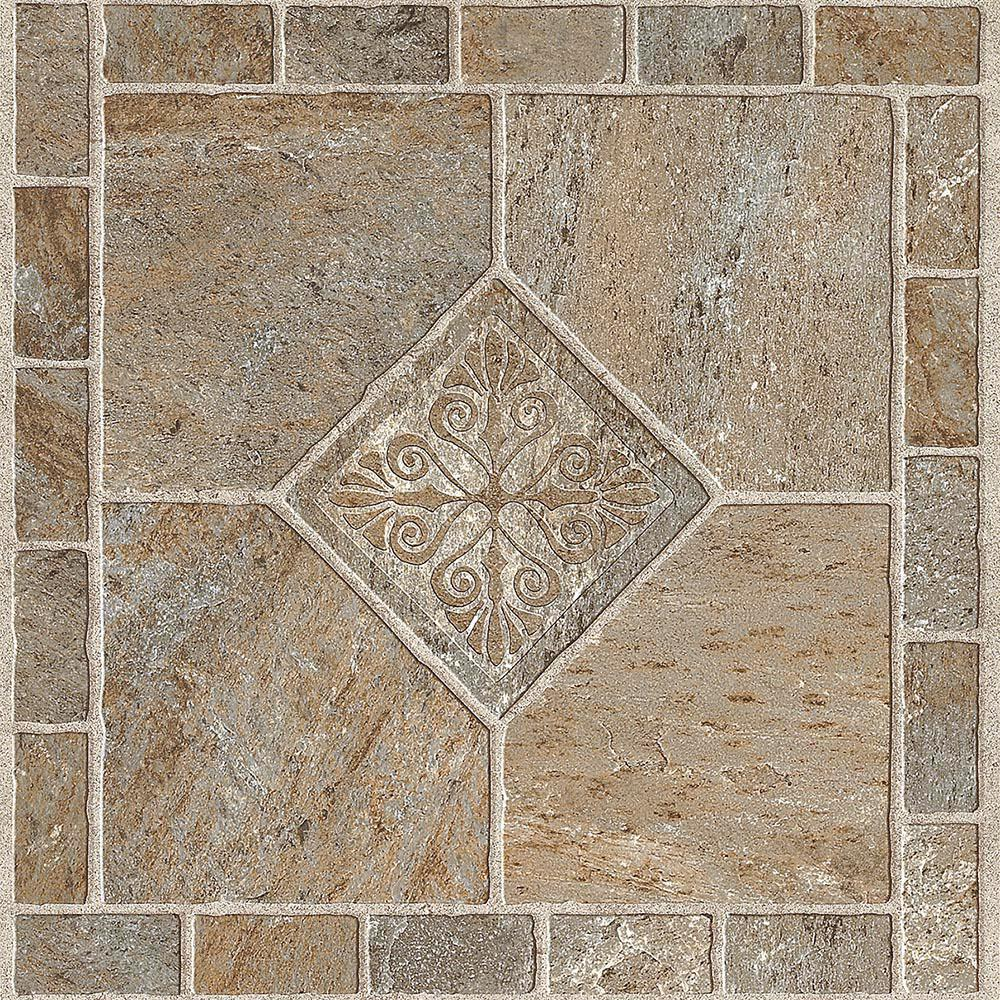Armstrong Multi Color Bronze 12 In X 12 In Residential Peel And Stick Vinyl Tile Flooring 45 Sq Ft Case 25209011 The Home Depot In 2020 Vinyl Tile Flooring Vinyl Tile Peel And Stick Floor