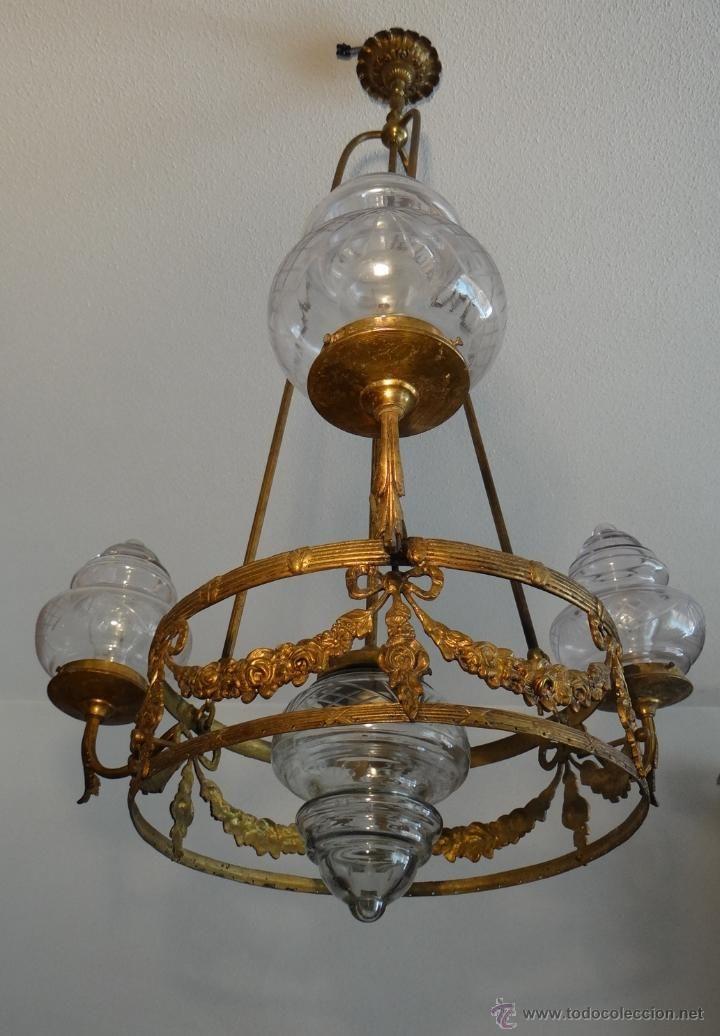 Antigua lampara modernista 1910 1920 estalcon - Venta de lamparas antiguas ...