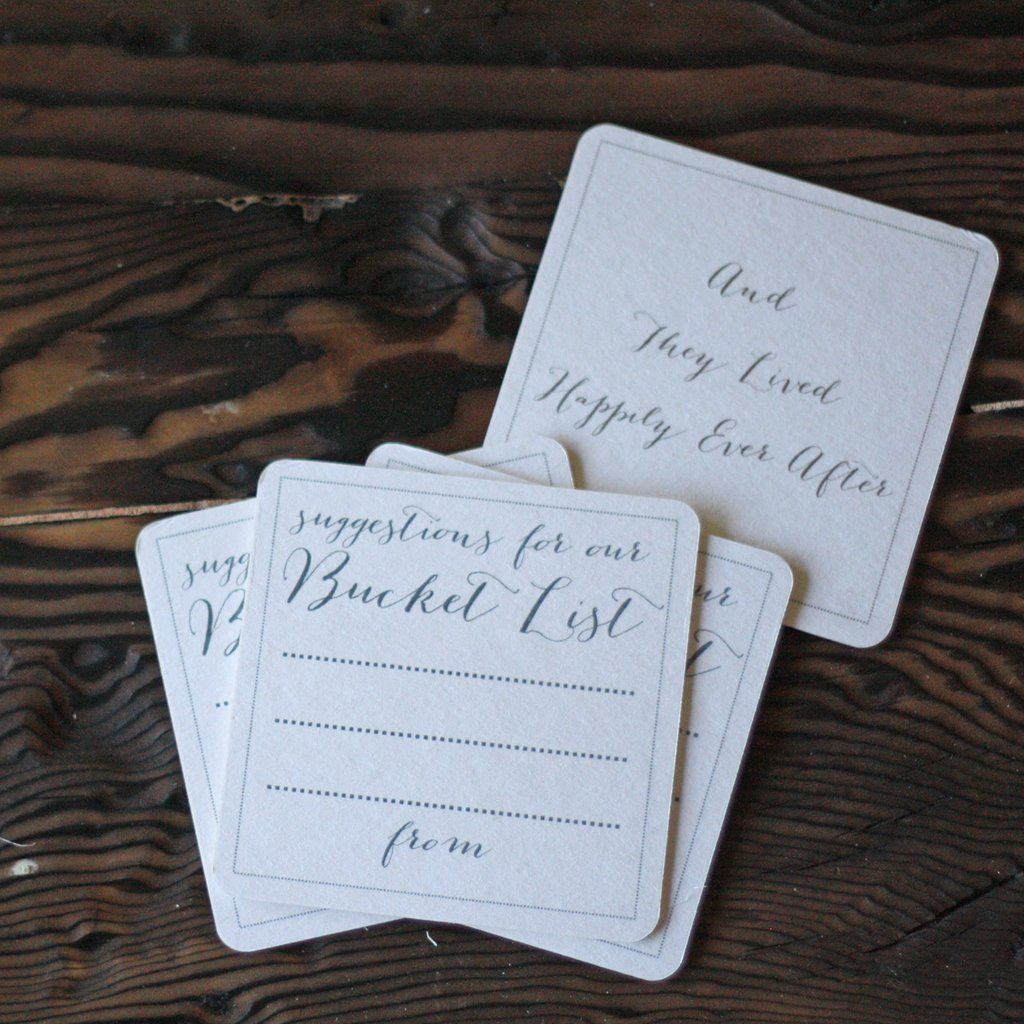 Suggestions For Our Bucket List Elegant Set Of 10