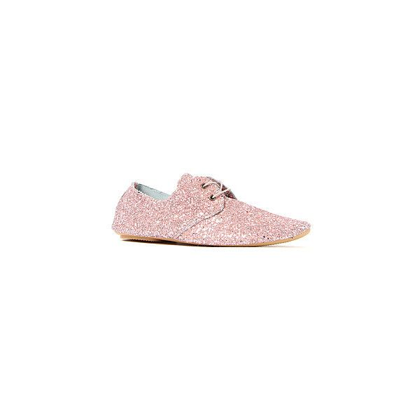 Anniel The Derby Shoe in Antico Pink Glitter ($95) ❤ liked on Polyvore