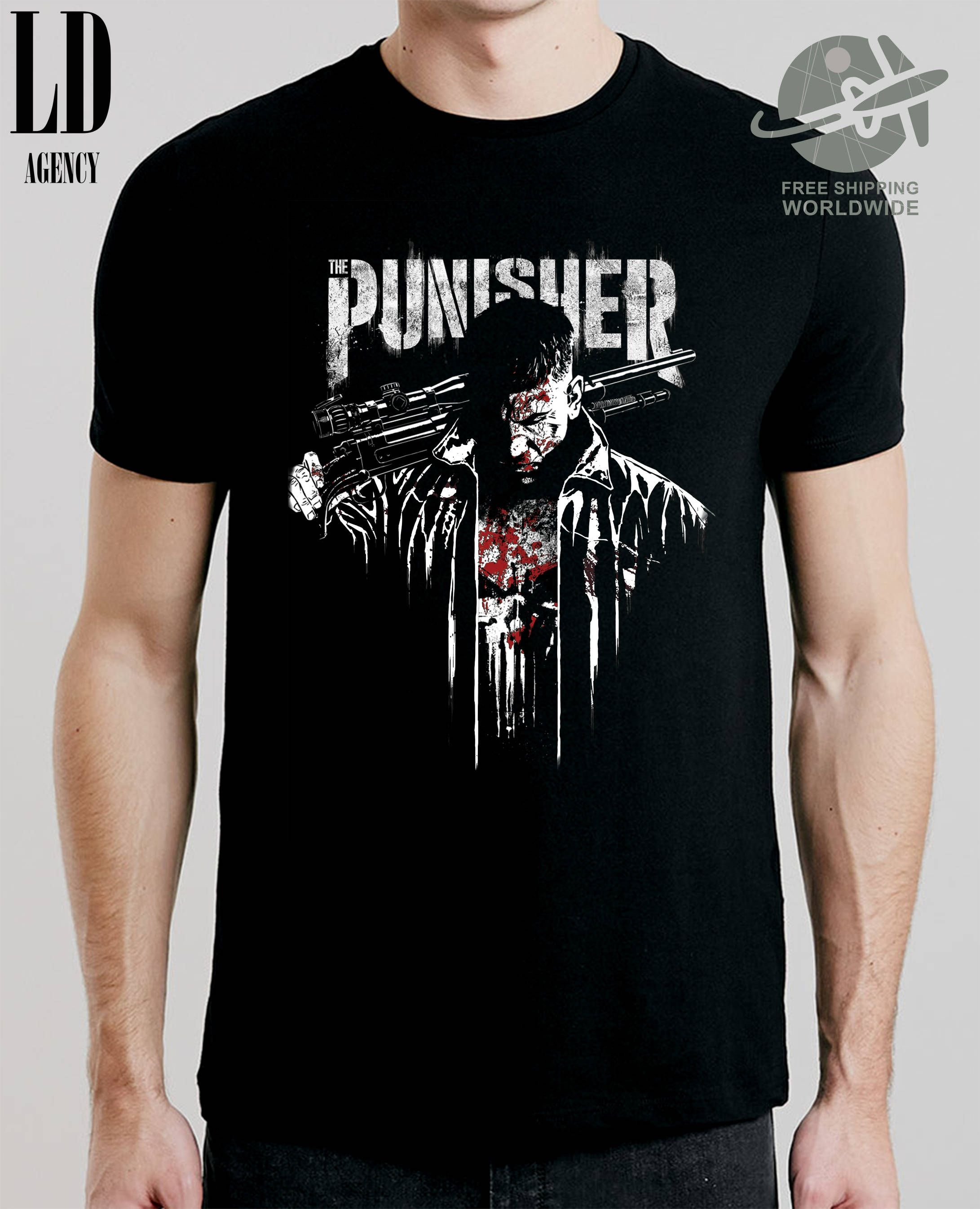 59c72147d T-SHIRT THE PUNISHER / tshirt comi-con / tee tv series / tshirts marvel /  tees horror / tshirt frank castle / marine / veteran by LDAgency on Etsy