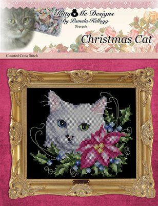 Counted Cross Stitch Patterns: Christmas Cat Counted Cross Stitch Pattern