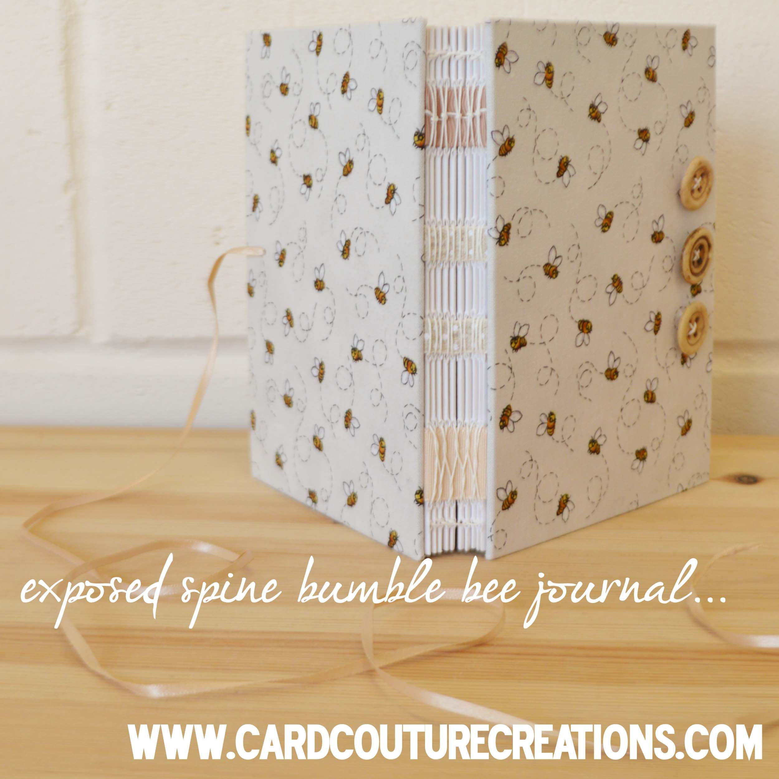 Handmade Bumble bee journal www.cardcouturecreations.co.uk ...