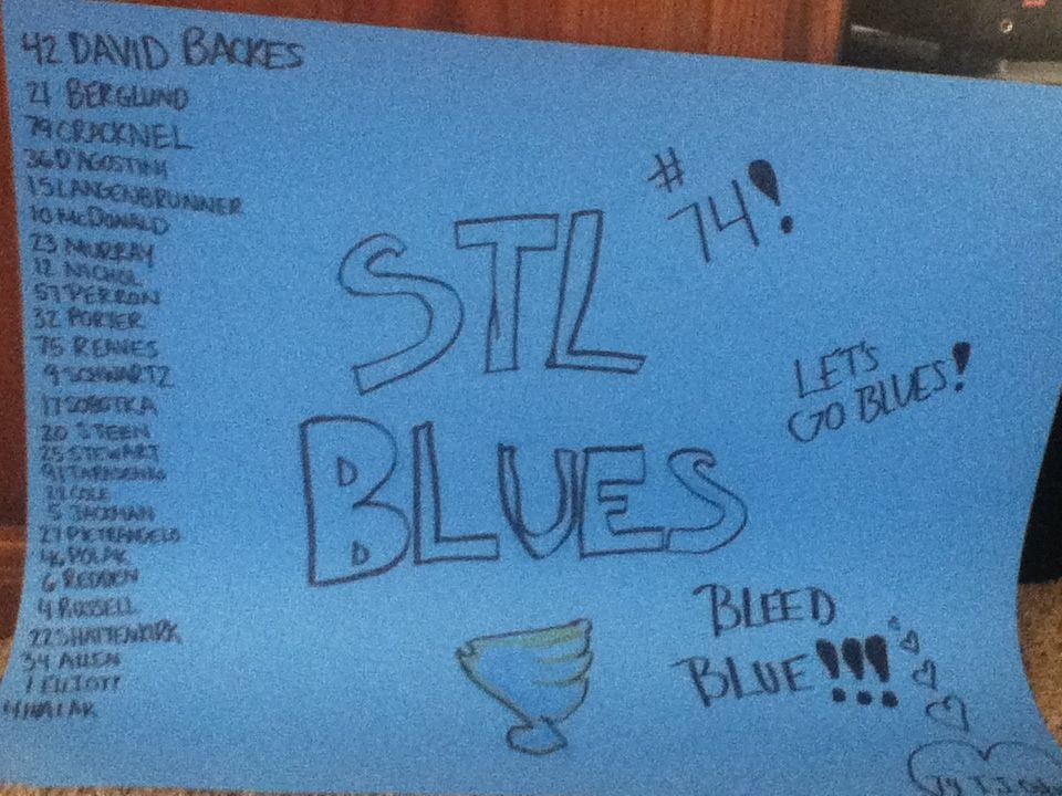 YEAAHHH my team!! STL Blues. Bleed blue.