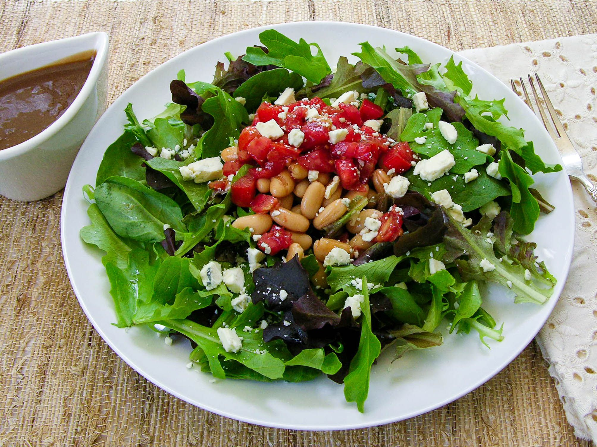 White Bean Balsamic Tomato Salad, Guest Post by Renee of Magnolia Days