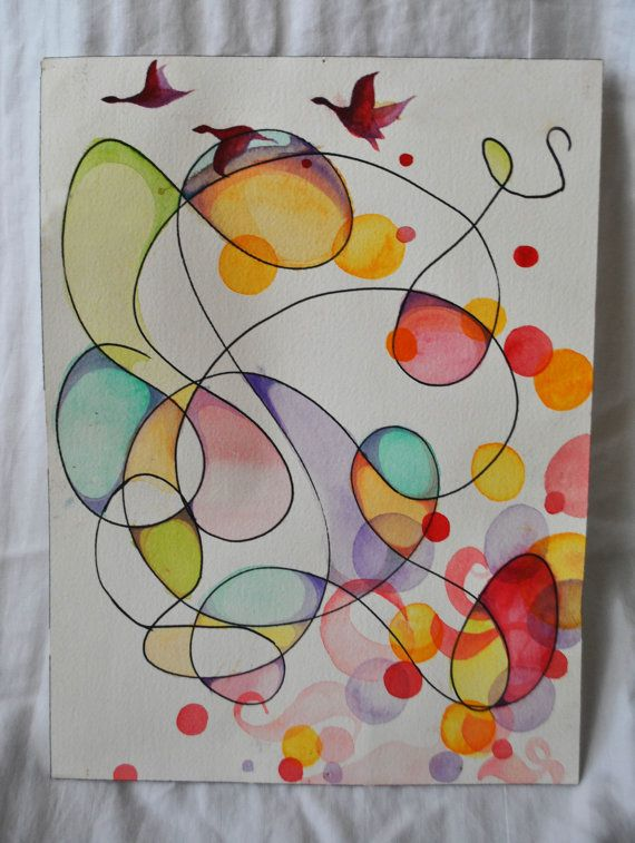 PRINT of Abstract Watercolor by nickiavena