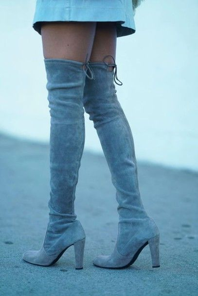 9007a13778b Shoes  tumblr boots over the knee boots over the knee high heels boots blue boots  sexy fall boots