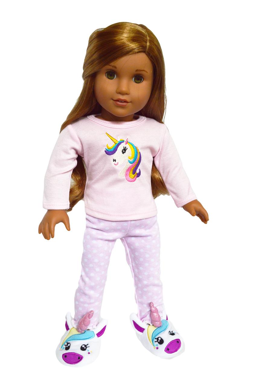 18inch Dolls Clothes Pajamas Set for AG American Doll My Life Dolls Sleepwear