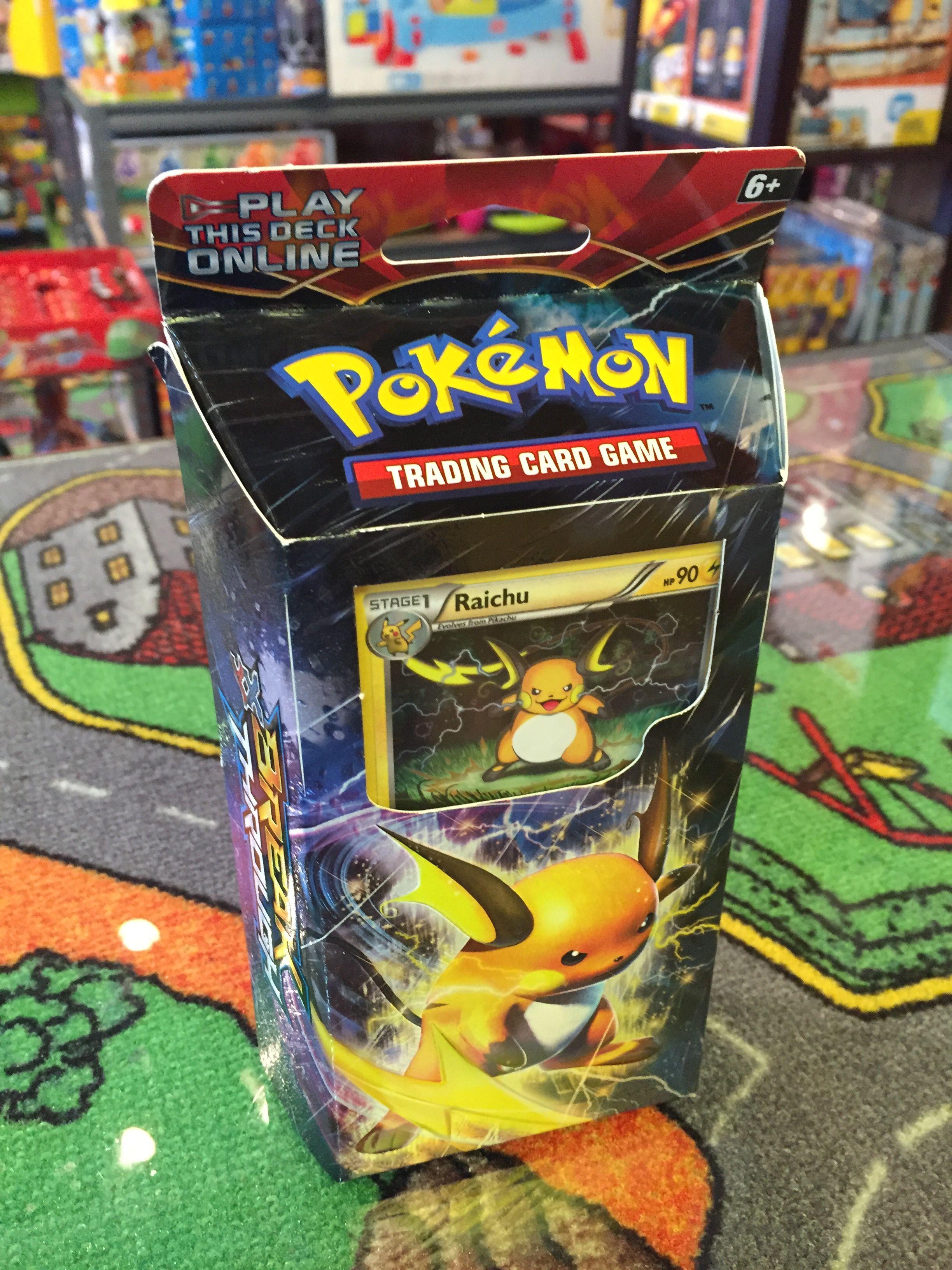 Pokemon Theme Deck Burning Spark Incluant Raichu 026 60 Cartes Pokemon 1 Checklist 1 Jeton Metallique Coin Trading Cards Game Card Games Online Trading