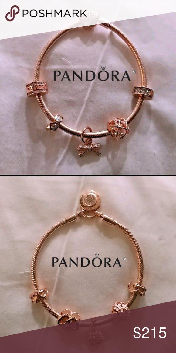 efd5e2fbc I just added this listing on Poshmark: Pandora rose bracelet + 5 pandora  rose beads set. #shopmycloset #poshmark #fashion #shopping #style #forsale # Pandora ...