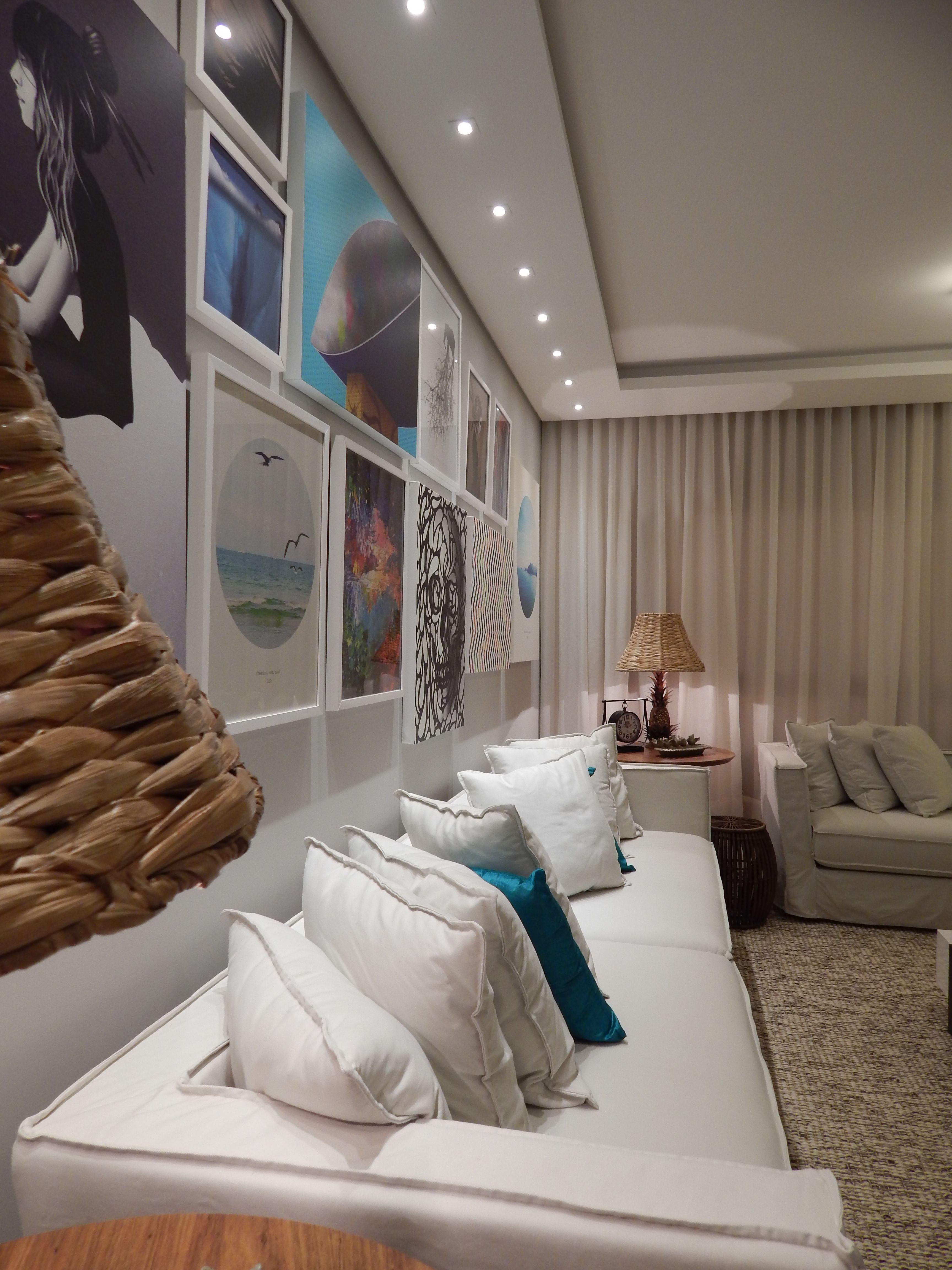 Sala De Estar 2014 Arquiteta Barbara Panassi Azul Turquesa  -> Abajur Pra Sala De Estar