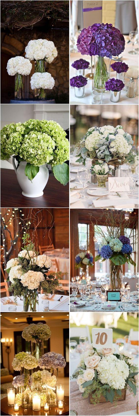 Diy decorations for wedding   Simple Yet Rustic DIY Hydrangea Wedding Centerpieces Ideas