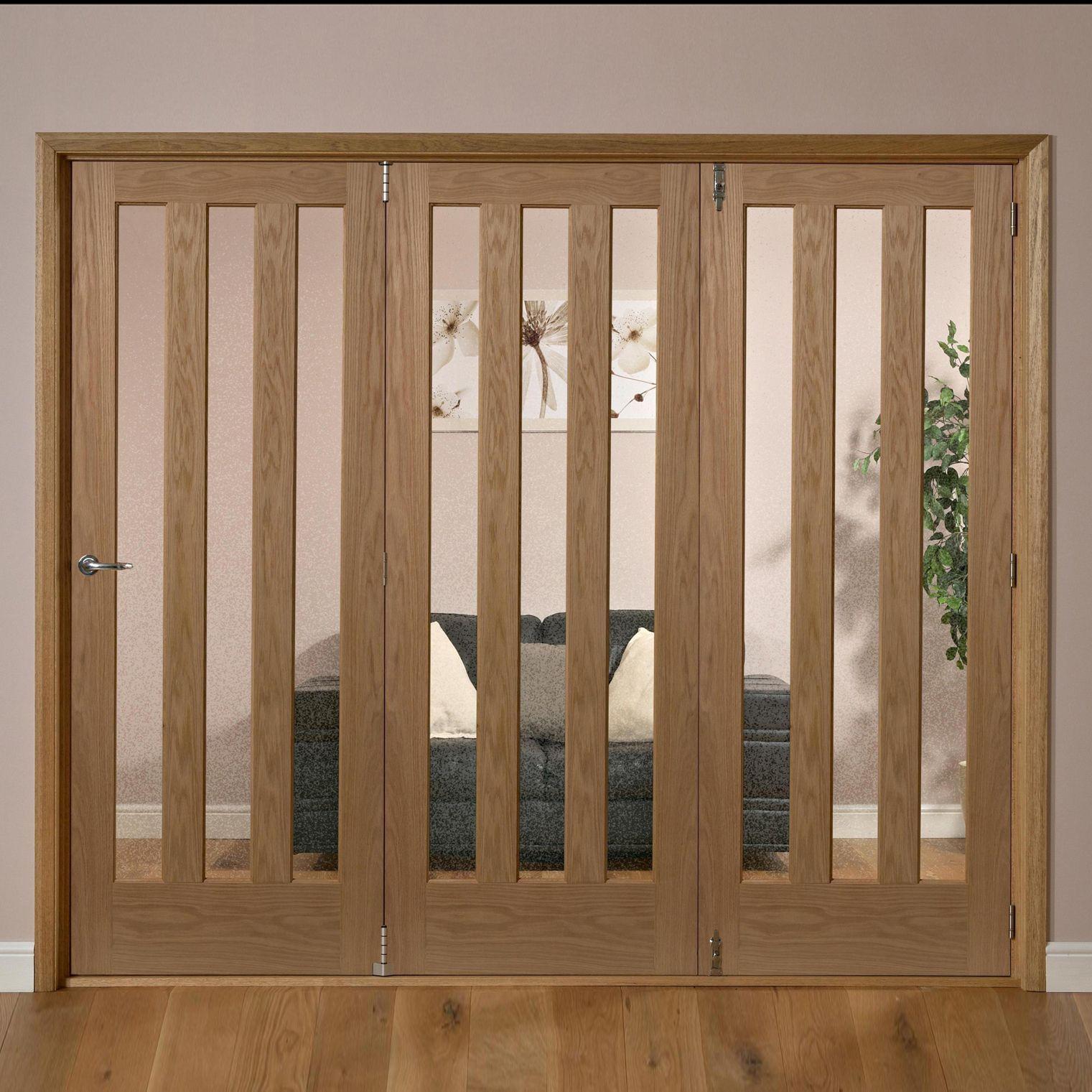 saxton vertical 3 lite oak veneer glazed internal folding. Black Bedroom Furniture Sets. Home Design Ideas