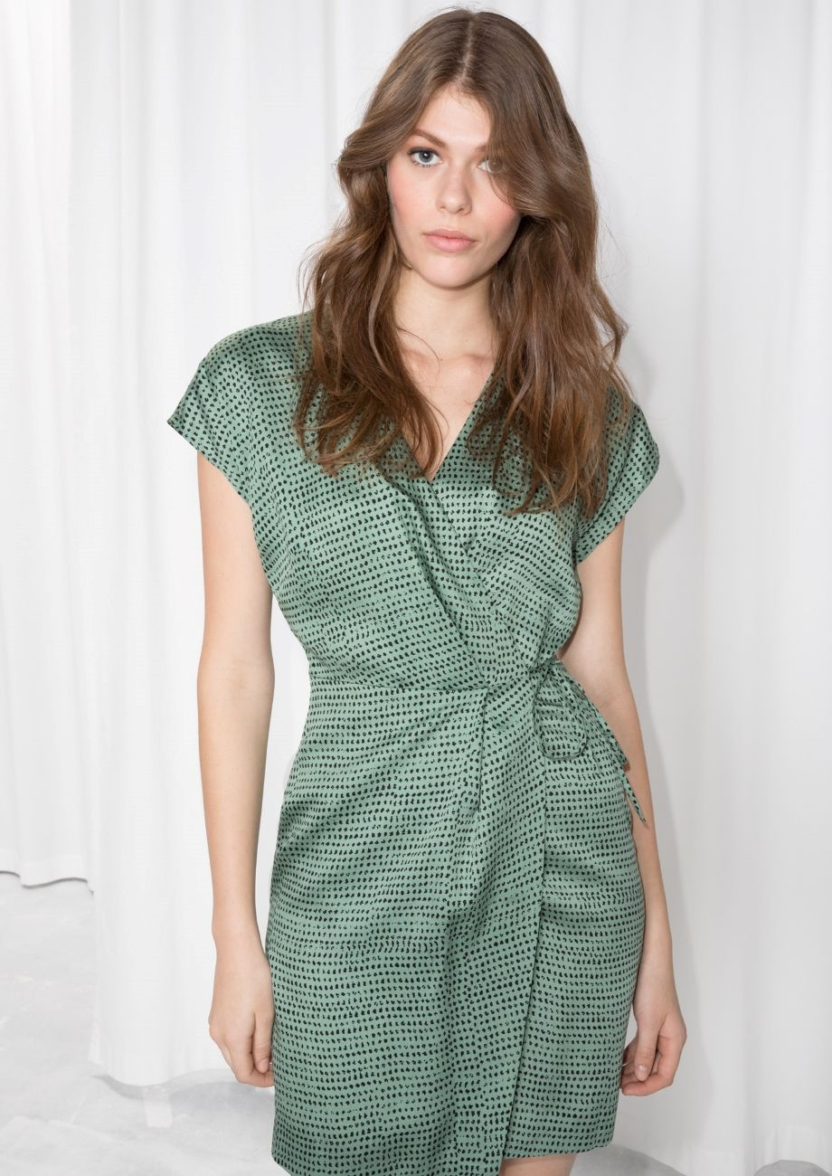 Other Stories Image 1 Of Sleeveless Wrap Dress In Green Wrap Dress Sleeveless Wrap Dress Dresses