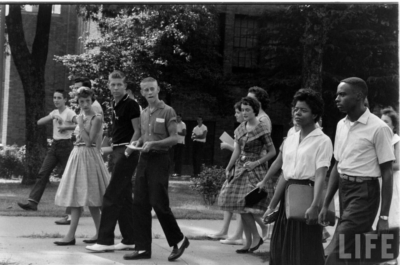 THE LITTLE ROCK NINE Imagine people yelling: 2…4…6…8…We ain't gonna  integrate! Being kicked, shoved and spat on while you try to enter a school  to obtain a ...