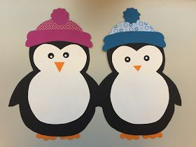 KLASSENKUNST: Fensterdeko: Pinguin & Freebie #halloweencraftsfortoddlers