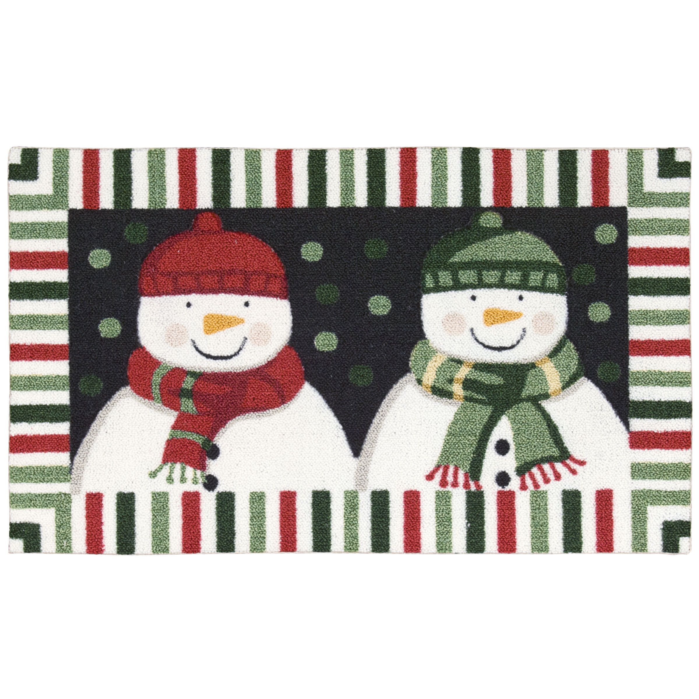 Nourison Enhance Double Snowman Black Accent Rug