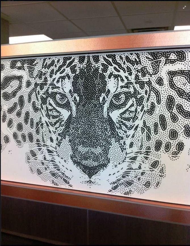 Mirage Jaguar Interlam Gallery Laminated Glass Screen Printing