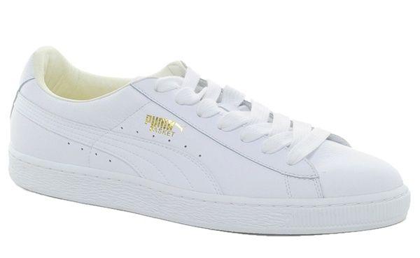 puma blanche cuir