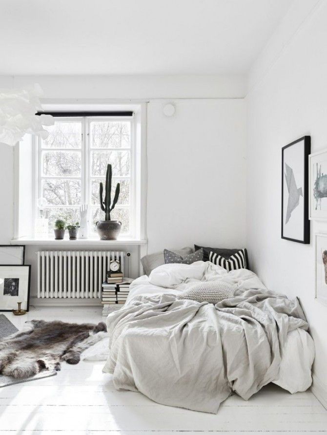 Chambre tout en blanc 19 id es de d cor blanc cette pi ce bedroom appartement maison et - Agencer une chambre ...