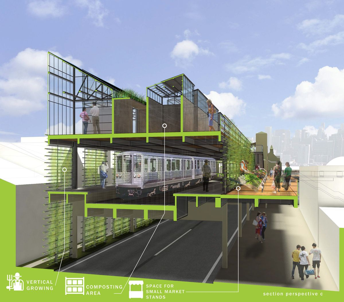Infrastructure As Architecture : Fortified infrastructure exploring urban agriculture