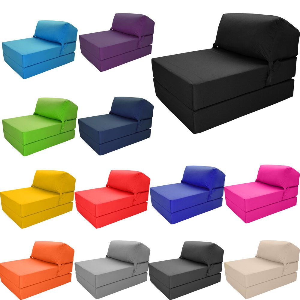 Foam Fold Out Chair Details About Deluxe Single Chair Bed Z Guest Fold Out Futon Sofa