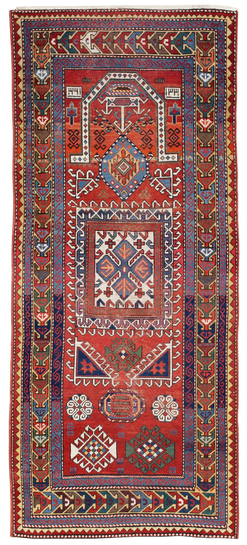 Caucasian Kazak prayer rug