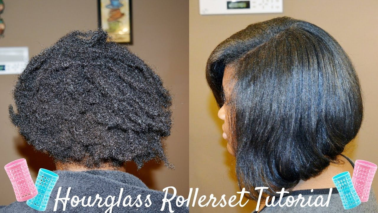 Hourglass Rollers Rollerset on Natural Hair Hair Pinterest