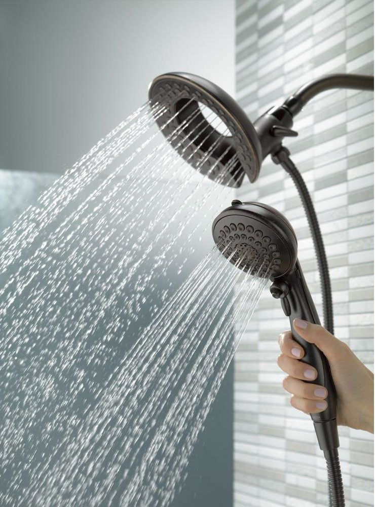 Delta Bathtub And Shower Faucets.Delta Faucet 75583rb In2ition 5 Function Handheld Dual