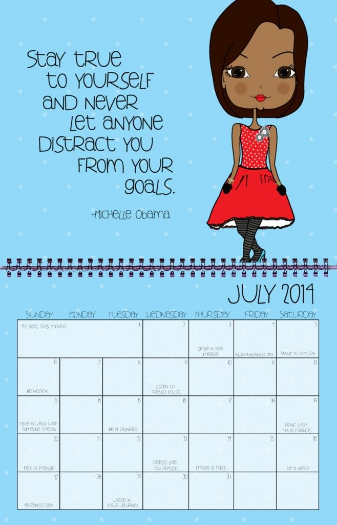 michelle obama quote on 2014 inspirational wall calendar