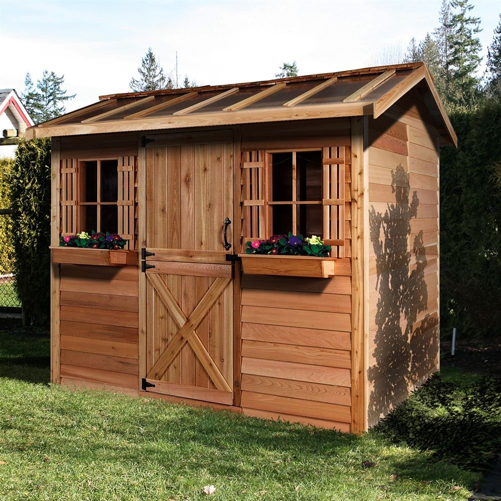 Cedarshed hobbyhouse 12ft x 8ft cedar storage shed