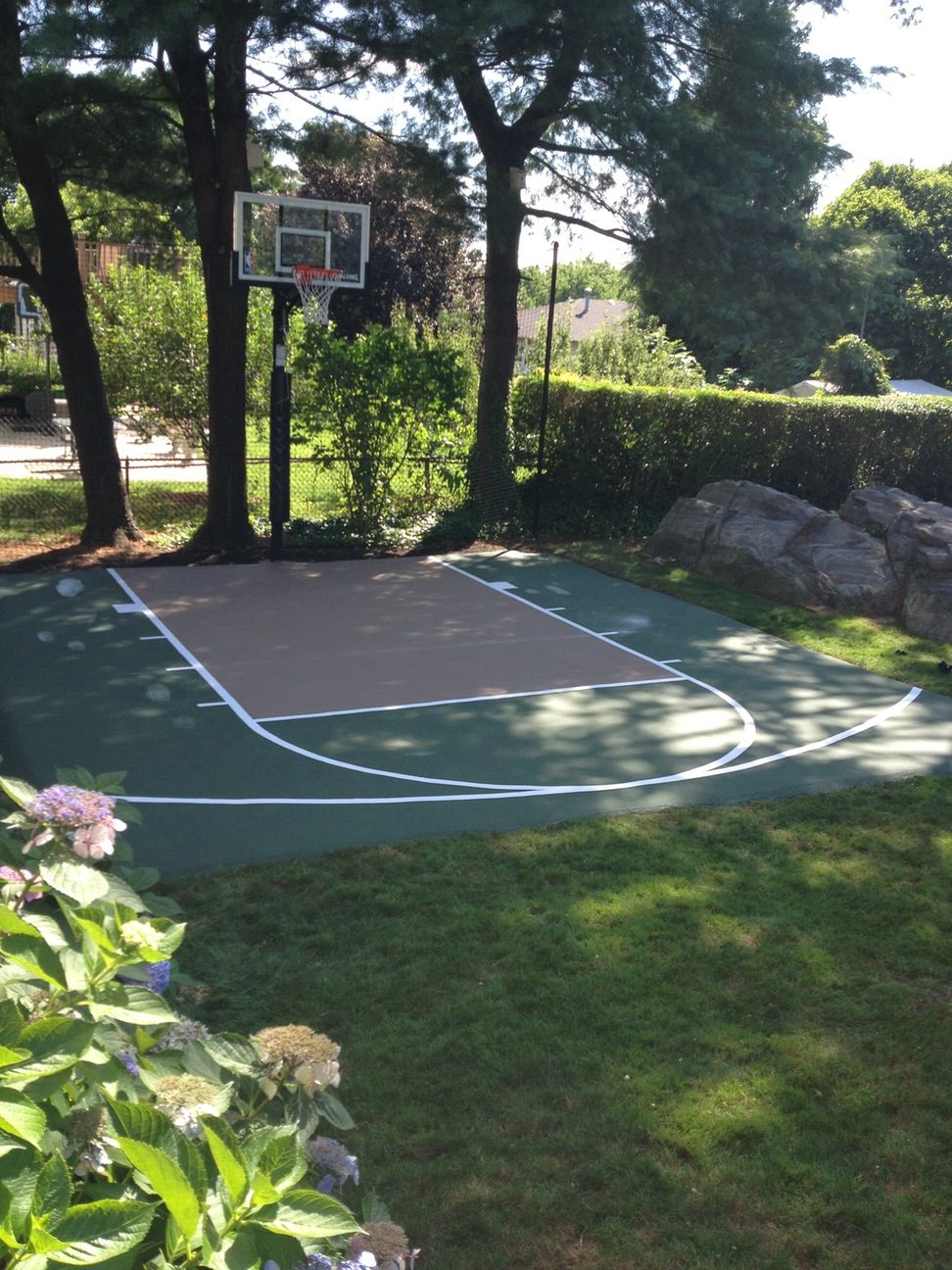 backyard basketball court backyard sports pinterest backyard