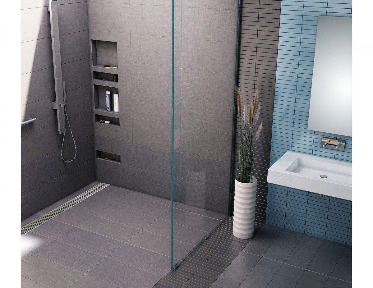 Redi Trench Barrier Free Shower Pan With Back Trench Drain