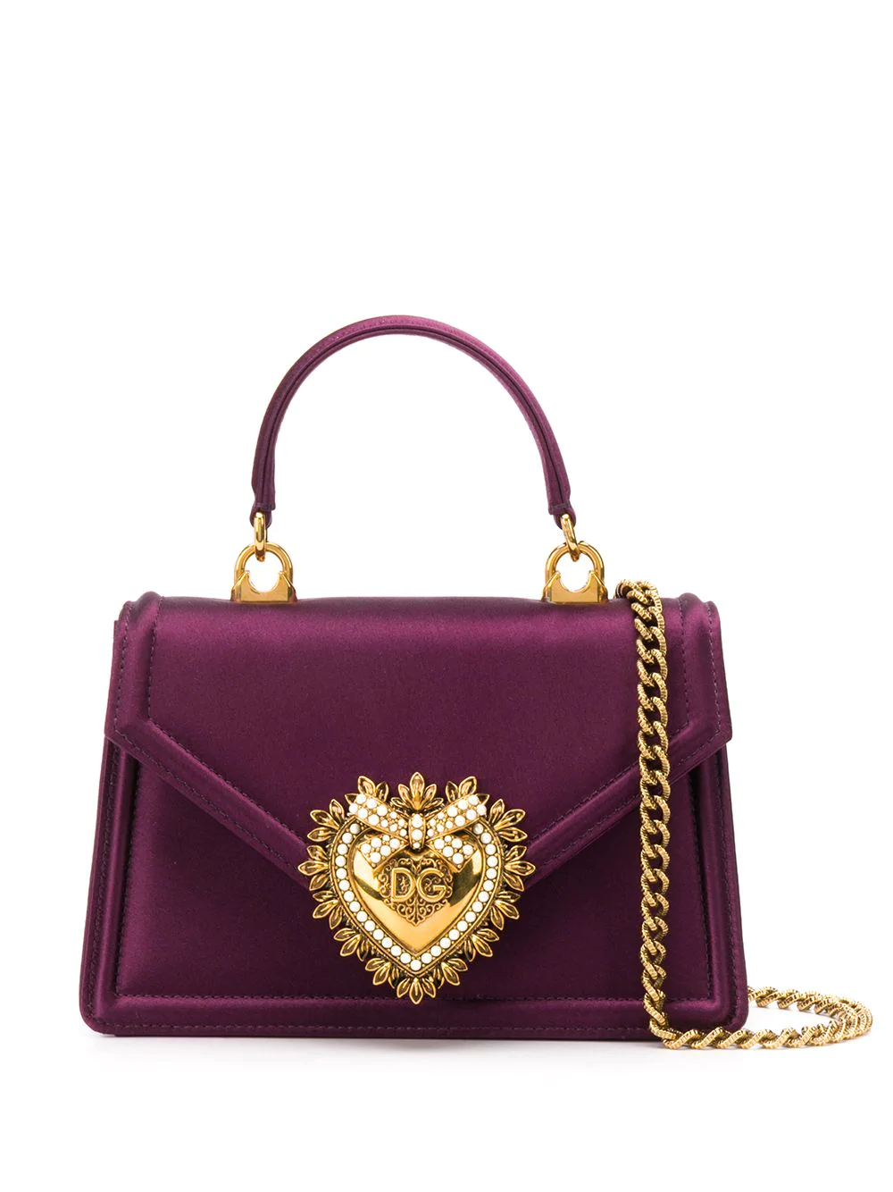 Dolce Gabbana Dg Amore Mini Bag Farfetch In 2020 Purple Bags Mini Bag Luxury Purses