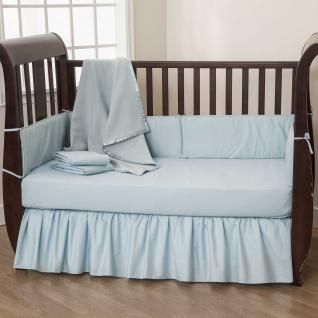 Basic Solid Color Crib Bedding Sets For Those Seeking Simplicity Durability And Affordability Made Wit Baby Blue Bedding Blue Crib Bedding Blue Bedding Sets