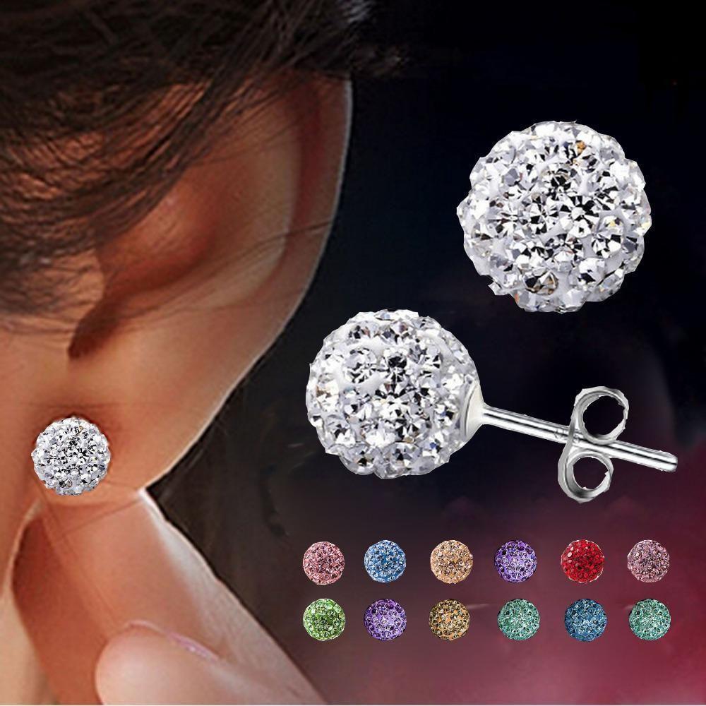 Earrings Brincos Earing Online Ping India Aros Penntes Mujer For Women Brinco Perlas Crystal Stud Oorbellen