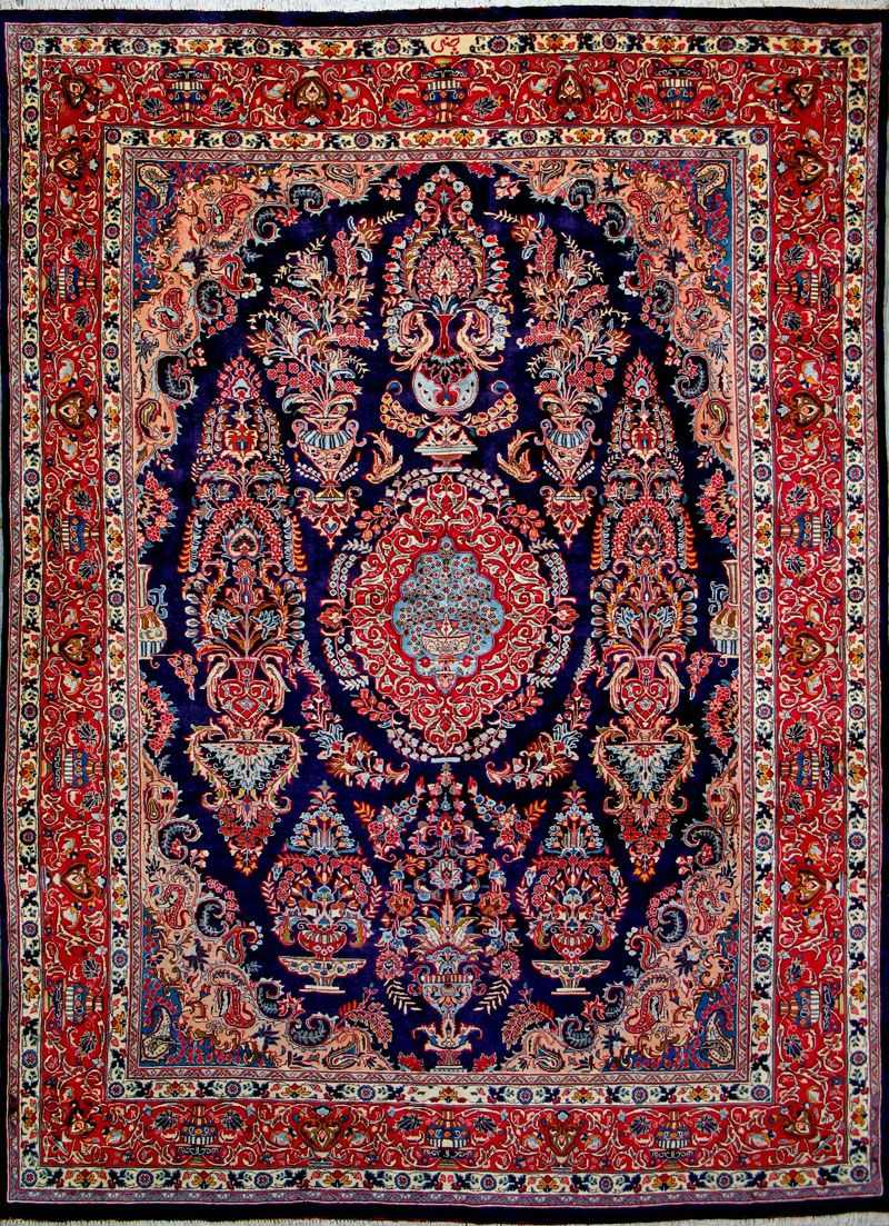 Mashad Persian Rug X Authentic Handmade
