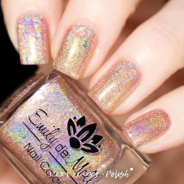 Emily de Molly Chase the Charmed is a rose gold holographic polish ...